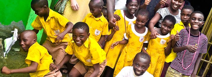 Some of the children who at Street Children Empowerment Foundation in James Town, Accra, one of the poorest places on the planet
