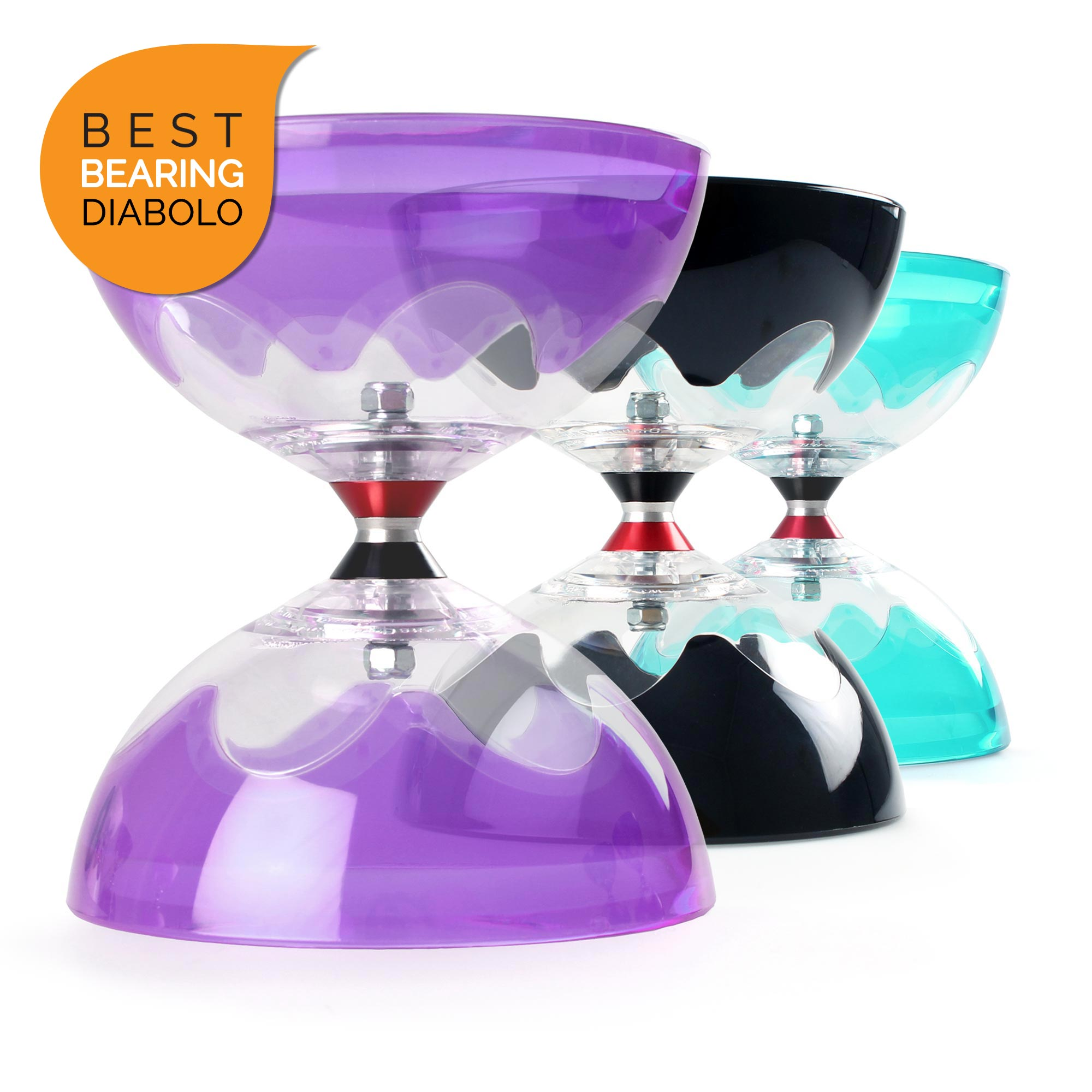 HyperSpin T and TC Triple Bearing Diabolos - The Best Large Bearing Axle Diabolo