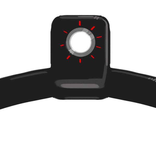 Aerial hoop eye with tubing mismatch
